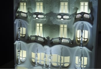 Illuminated model of Casa Batlló